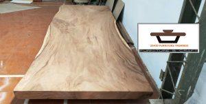 meja papan kayu jati utuh