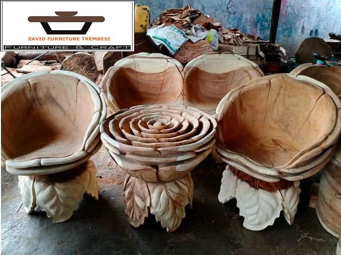 kursi teras unik kayu trembesi