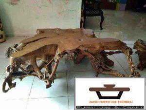 meja antik akar kayu