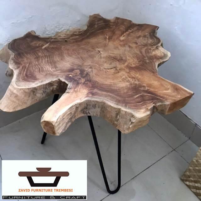 meja antik kayu trembesi