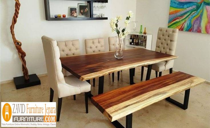 Meja Makan Trembesi Semarang Kayu Solid