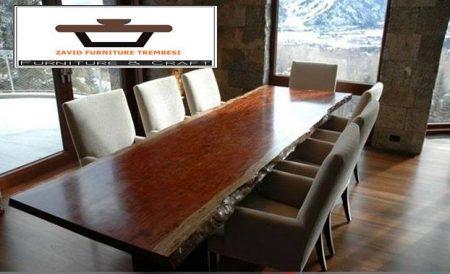 meja kantor kayu trembesi