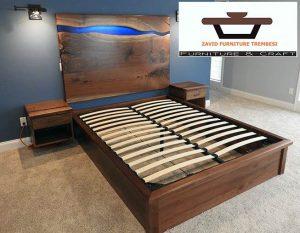 tempat tidur kayu trembesi solid