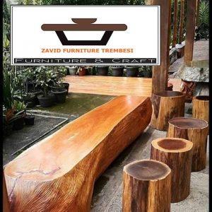 Jual Kursi dari Batang Kayu Utuh Alami