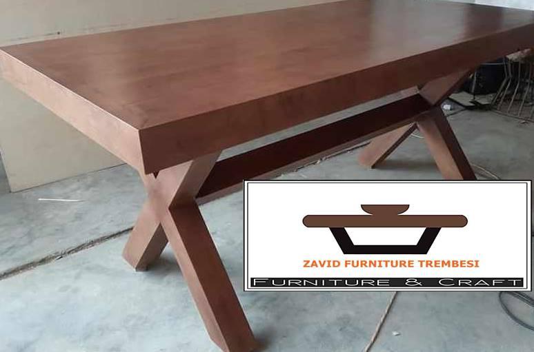 meja tamu kayu tebal