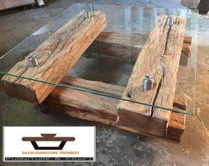 Meja Tamu Kayu Jati Antik Kuno Kayu Lama