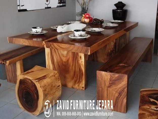 Set Meja Makan Kayu Besar