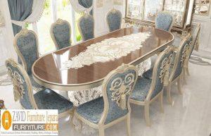 Jual Meja Makan Mewah 6 Kursi Kelas Sultan
