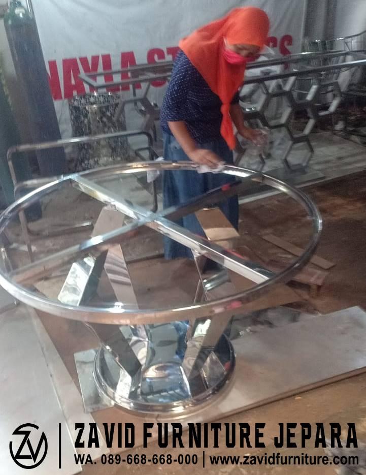 Jasa Pembuatan Custom Kaki Meja Stainless Steel Profesional