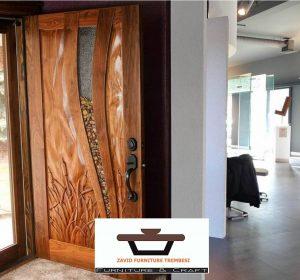 Jual Pintu Kayu Trembesi Solid Minimalis Modern