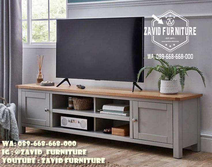 Lemari Tv Minimalis Kayu Jati Desain Custom Murah