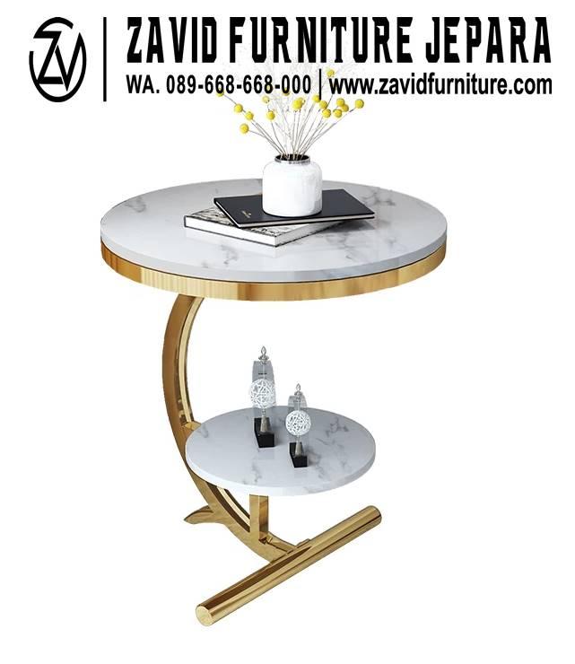 Meja Marmer Bulat Kecil Model Terbaru