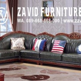 Sofa L Mewah Luxury Klasik